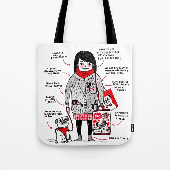 Anatomy of the Pug Owner Tote Bag