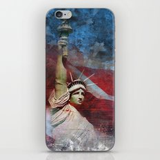 Statue of Liberty Patriotic Poster iPhone & iPod Skin