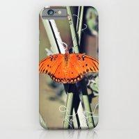 Orange Butterfly iPhone 6 Slim Case