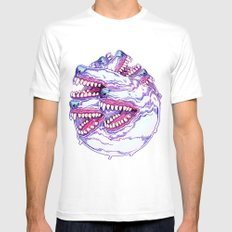 HOUNDSTOOTH PHENOMENA Mens Fitted Tee White SMALL
