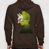 Fox Mask _side Face Hoody