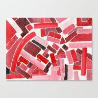 warm color pattern Canvas Print