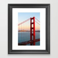 Golden Gate Bridge - San… Framed Art Print