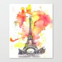 Eiffel Tower In Paris Fr… Canvas Print
