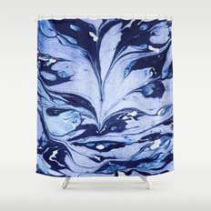 Dark And Bright And Blue Shower Curtain