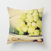 Fruit Bowl of Grapes Throw Pillow