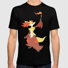 Delphox Black Mens Fitted Tee SMALL