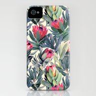 iPhone & iPod Case featuring Painted Protea Pattern by Micklyn