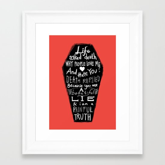 Life asked death... Framed Art Print