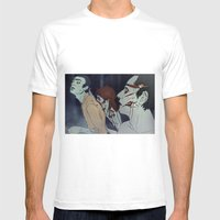 Friendsgonebad Mens Fitted Tee White SMALL