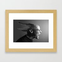 Reptilian Thoughts, Drac… Framed Art Print