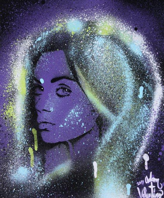 Mila Kunis Stencil Portrait Spray Paint Art Canvas Print