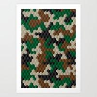 Cubouflage Art Print