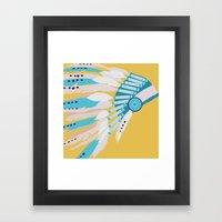 Aztec Head Dress  Framed Art Print