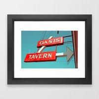 Oasis Sign Framed Art Print