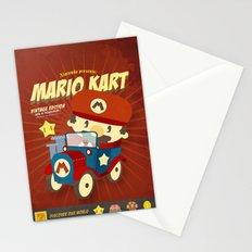 mario kart vintage Stationery Cards