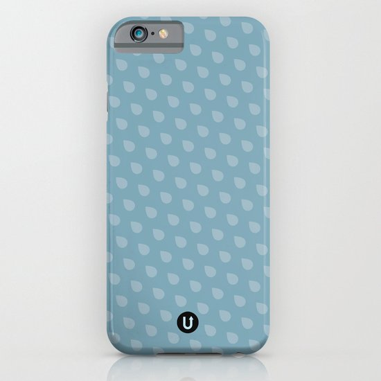 U13: blue droplet iPhone & iPod Case