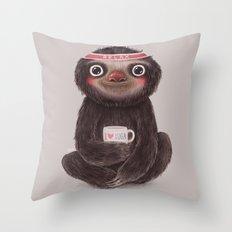 Sloth I♥yoga Throw Pillow
