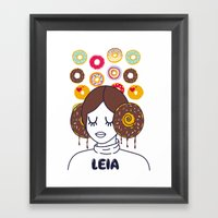 Princess Donut Leia Framed Art Print