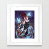 Blue Mage Framed Art Print