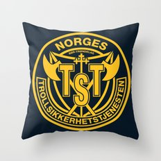 Troll Security Service Throw Pillow