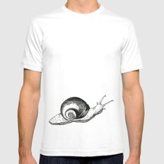 Snail White Mens Fitted Tee SMALL
