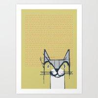 Cubist Cat Study #6 By F… Art Print