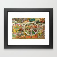 Peace Sign - Love - Graffiti Framed Art Print
