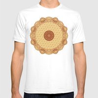 Mandala 8 Mens Fitted Tee White SMALL