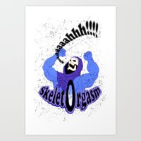 SkeletOrgasm Art Print