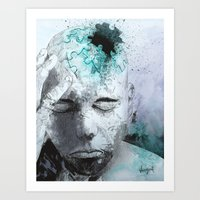 Puzzled Art Print