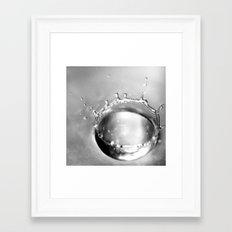 WATERDROP I - SCHWARZ/WE… Framed Art Print