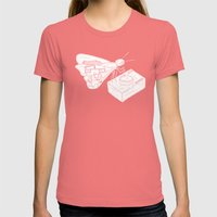 Butterfly Womens Fitted Tee Pomegranate SMALL