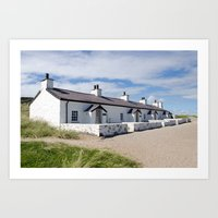 Pilots cottages Llanddwyn Art Print
