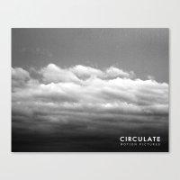 Circulate - Clouds Canvas Print