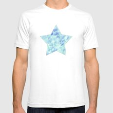 Blue lagoon Mens Fitted Tee SMALL White