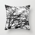 black tree Throw Pillow