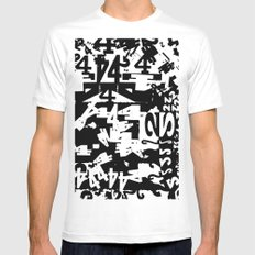 42 SMALL White Mens Fitted Tee