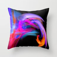 Abstract Feathers Throw Pillow