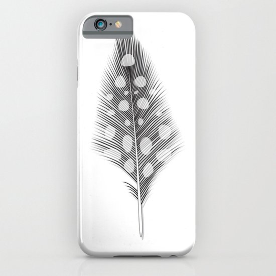 Polka Dotted Feather iPhone & iPod Case