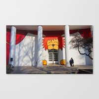 Help, There's A Lion Eat… Canvas Print