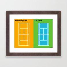 Le Tennis Framed Art Print