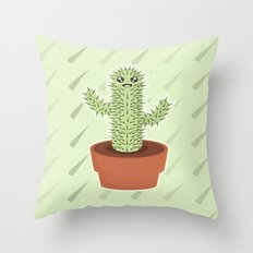 Kawaii Cactus Throw Pillow