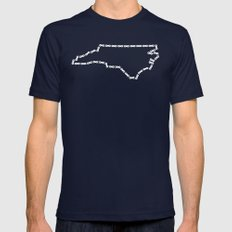 Ride Statewide - North Carolina Mens Fitted Tee Navy SMALL