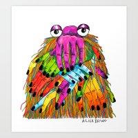Imaginary Friend Monster Art Print
