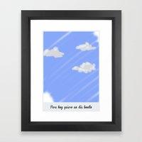 Un Buen Día. Framed Art Print