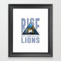 Rise Lions  Framed Art Print