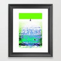 Sailboat And Swimmer (2b… Framed Art Print