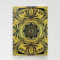 Golden Geometry Stationery Cards