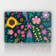 Laptop & iPad Skin featuring Floral Heart by Anna Deegan